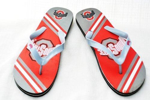 FOREVER Ohio State Buckeyes offiziellen NCAA Unisex Flip Flop Strand Schuhe Sandalen Hausschuhe Größe L von Forever