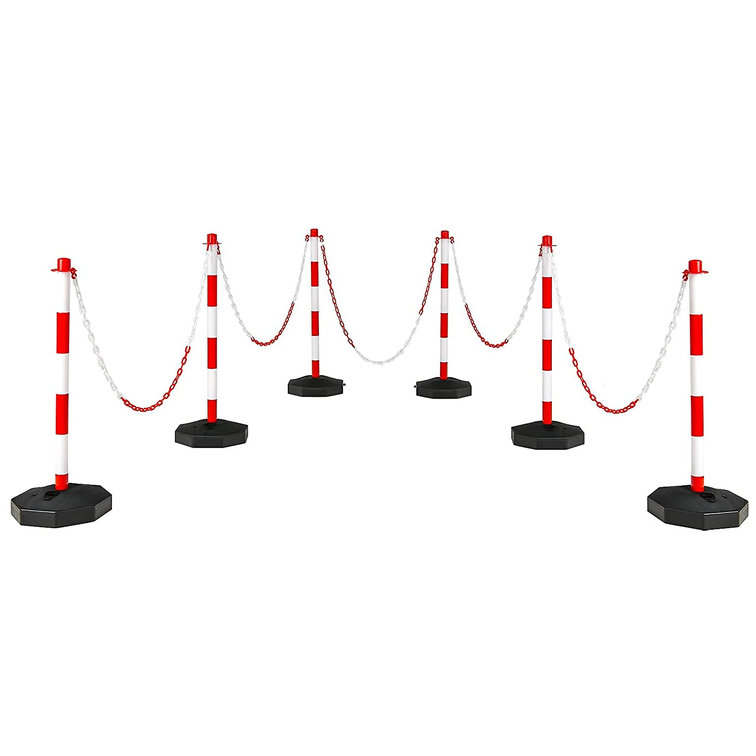 Goplus 6 Pack Delineator Post Cone Safety Cones Barrier Traffic OFFicial mail order Cheap sale