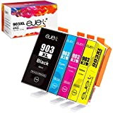 ejet Chip de Actualización 903XL Cartuchos de Tinta Compatible para HP 903XL 903 para Impresoras HP Officejet Pro 6950 6960 6970 (1 Negro/1 Cian/1 Magenta/1 Amarillo, Paquete de 4)