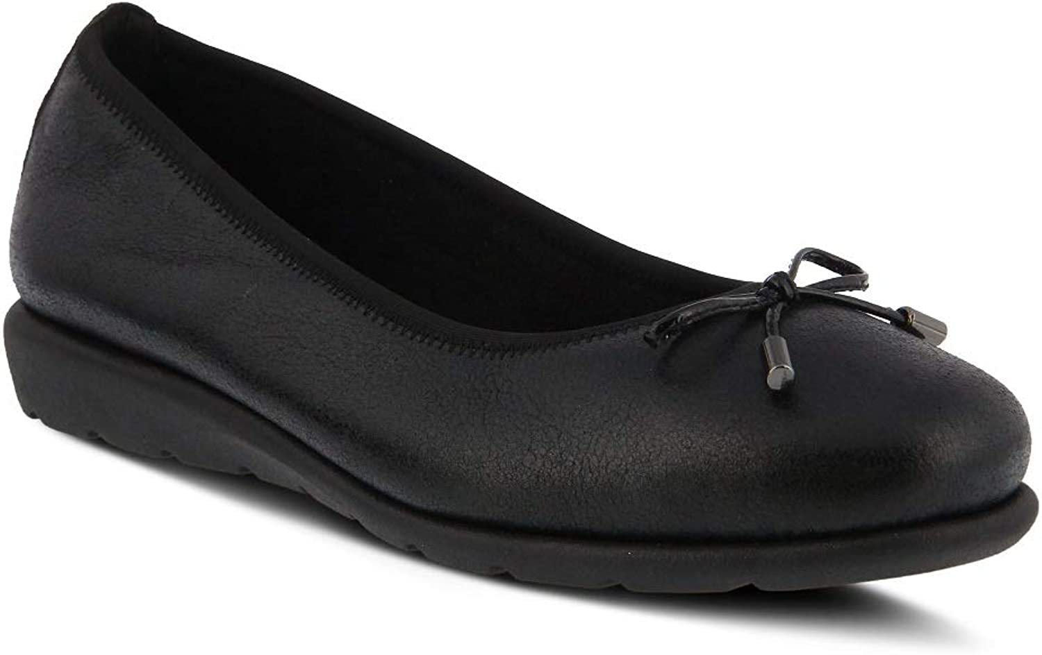 Spring Step Women's Ballerina shoes   color Black   Leather shoes