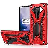 AFARER OnePlus 7 Pro - Funda militar para OnePlus 7 Pro de 3,6 m de altura, protección extrema, armadura de doble capa, con soporte plegable para OnePlus 7 Pro, color rojo