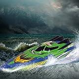 MEILINL RC Boat Spielzeug Geschenke RC Rennboot Radio Fernbedienung Doppelmotor Geschwindigkeit Boot Hochgeschwindigkeit Starkes Kraftsystem Für Pool Und Seen 30 Km/H Freien Für Kinder