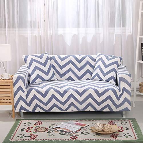 WUFANGFF Bankovertrek, elastische bankafdekking bedrukt slipcover smalle wrap all-inclusive hoekbank afdekking stretch meubel dekt 1/2/3/4-zits 1 Sitz (90-140 cm)