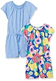 Spotted Zebra Knit Short-Sleeve Rompers Vestido, 2-Pack Fruit/Azul, M, Pack de 2