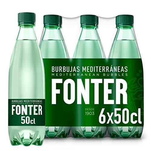 Fonter, Agua Mineral con gas - Pack de 6 x 50cl