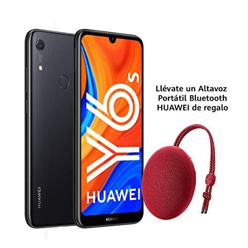 """Huawei Y6s - Smartphone de 6.09"""" (RAM de 3 GB, Memoria de 32 GB, Cámara trasera de 13MP, Cámara frontal de 8MP, EMUI 9) Negro + Portable Bluetooth Speaker CM51 Rojo"""