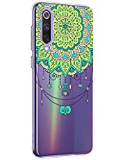 Oihxse Mandala Flores Encaje Patrón Serie Case Compatible con Samsung Galaxy A70S Funda TPU Silicona Suave Protector Ultra Slim Anti-Rasguño Transparente Carcasa (A2)