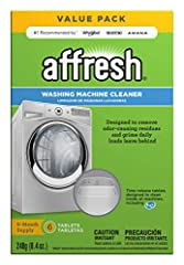 Cleans and freshens washer interior Foaming tablet dissolves slowly to remove residue Safe for all washer components Safe on septic tanks Package includes six tablets #1 recommended by whirlpool, Maytag and amana brands We suggest that consumers disc...