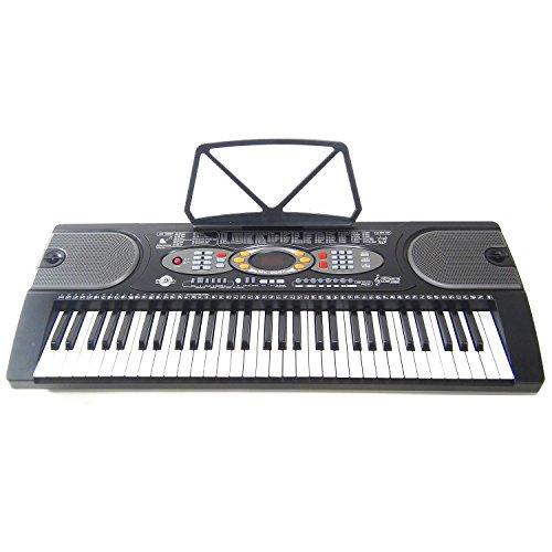Keyboard DynaSunMK2085 61 TastenLCD USBAnschluss Intelligente Lernfunktion inkl. Netzteil Mikrofon und Notenständer