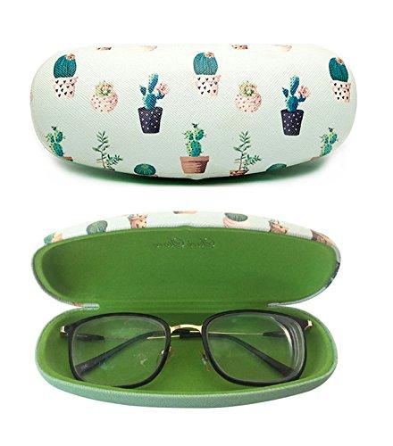 Brillenetui, Hartschale, mit Kaktus-Aufdruck, niedlicher Schutzhalter