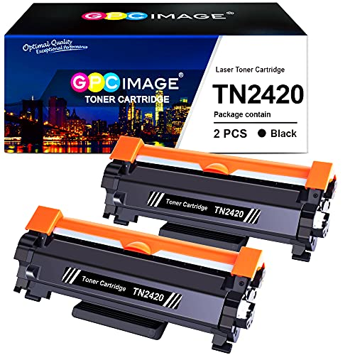 GPC Image TN2420 TN-2420 Cartuchos de tóner Compatible para TN2410 TN-2410 para Brother DCP L2510D L2530DW L2550DN HL L2310D L2350DW L2370DN L2375DW MFC L2710DN L2710DW L2730DW L2750DW (2 Negro)