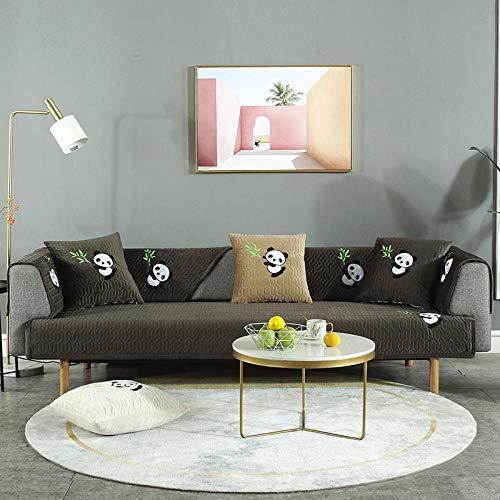 B/H Sofa Cover Anti-Wrinkle,Modern and Simple Sofa Cushion, Non-Slip Cover Cover Back Towel-Black Coffee_90*240CM,Stylish Furniture Sofa Covers