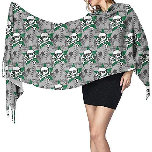 Frauen stilvolle warme Quasten Schal Hipster oder Emo Soft Winter große Decke Wrap Schal