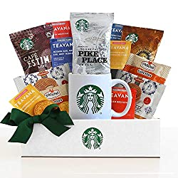 Gifts for a businessman include anything Starbucks related.