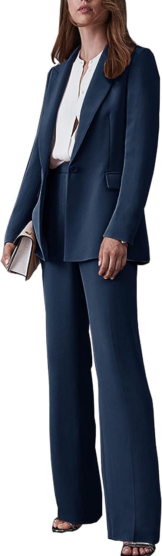 Ladies Suit Two-Piece Formal Wear Business Wedding Office Blazer + Pants Women