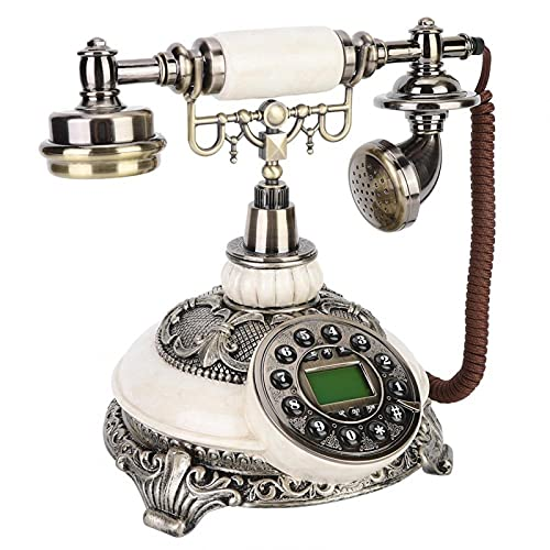 Teléfono retro con cable, teléfono fijo antiguo, para oficina en casa