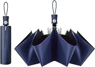 Cuby UV Sun Umbrella Compact Folding Travel Umbrella Auto Open and Close for Windproof, Rainproof & 99% UV Protection Parasol with Black Anti-UV Coating (Blue)