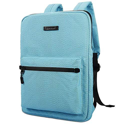 JiuRui Tablets oder Telefon Etuis & Hüllen, Laptop-Tasche Leinwand-Leicht-Laptop-Tasche, Mode Laptop Rucksäcke, 15,6 Zoll (Color : Blue, Size : 15-15.6inch)