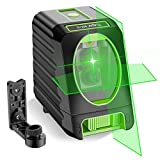 Self-leveling Laser Level - Huepar Box-1G 150ft/45m Outdoor Green Cross Line Laser Level with Vertical Beam Spread Covers of 150°, Selectable Laser Lines, 360° Magnetic Base and Battery Included