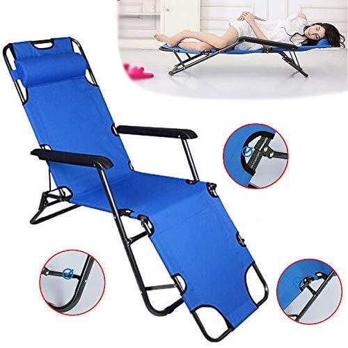 Hzlsy Klappbarer Liegestuhl Strand Sonnenstuhl Tragbarer Im Freien Verstellbar Schwerelosigkeit Ruhebett Garten Sonnenbaden Campinghocker