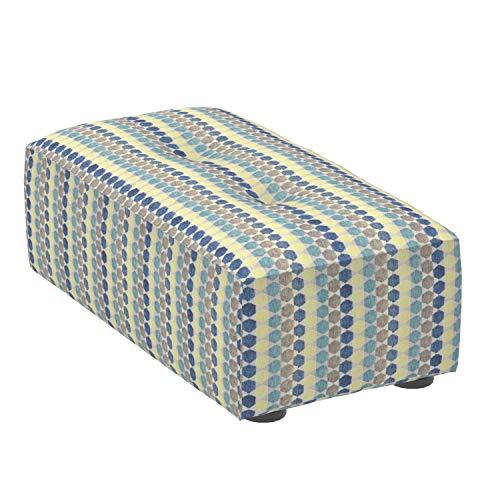 Marca Amazon -Alkove Elvas - Reposapiés bajo para sofá modular, 48 x 93cm, de lunares