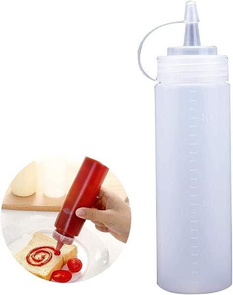 Plastic Squeeze Bottle Bulk Clear BPA Free Condiment Squirt Condiment Bottles Top Storage Containers For Ketchup Bulk Clear BPA Free Condiment Bottle Set Top Bottles
