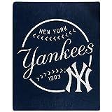 Northwest MLB New York Yankees 50x60 Raschel Moonshot DesignBlanket, Team Colors, One Size