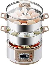 Grande capacité en acier inoxydable 3-couche vapeur de légumes for la minuterie de cuisine, intelligent vapeur à vapeur, l...