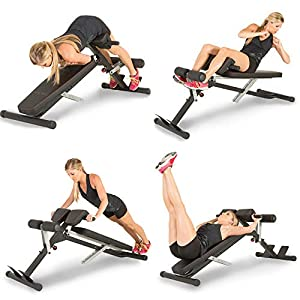 Fitness Equipment Shopping Fitness Reality X-Class Light Commercial Multi-Workout Abdominal/Hyper Back Extension Bench, Black