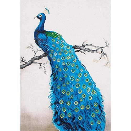 DIAMOND DOTZ Complete Diamond Facet Art Kit Blue Peacock