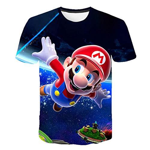 2019 Últimos Juegos clásicos de Harajuku Super Mario Kid Camiseta Hombres/Mujeres Super Smash Bros Camiseta con Estampado 3D Hip Hop Camiseta Streetwear Tops