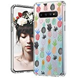 MOSNOVO Galaxy S10 Case, Cute Pineapple Pattern Clear Design Printed Transparent Plastic Hard Back Case with TPU Bumper Protective Case Cover for Samsung Galaxy S10