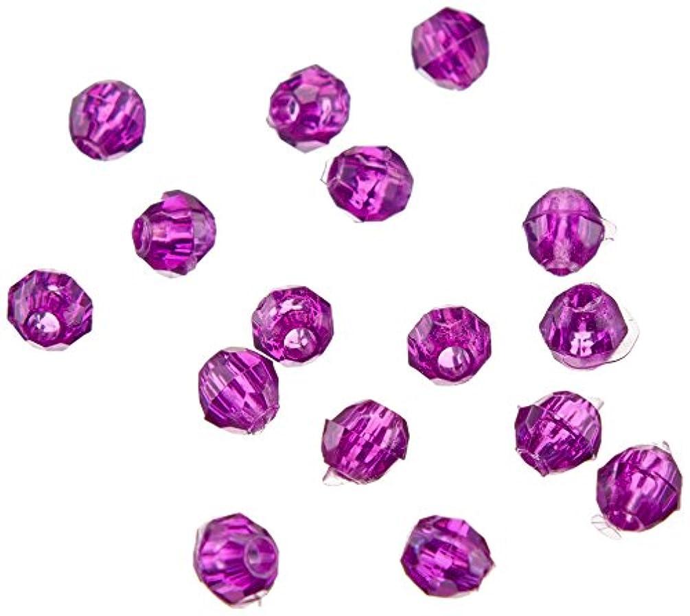 Darice 06122-1-T22 Bead Faceted, 4 mm, Dark Amethyst