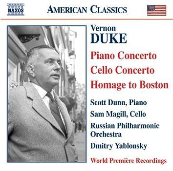 Duke: Piano Concerto / Cello Concerto / Homage To Boston