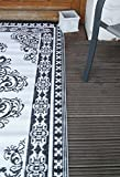 Deko-Impresion Outdoor-Perser, Balkonteppich, Teppich, wetterfest, 180x120 cm schwarz-Weiss - 2