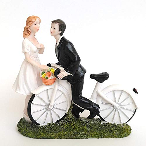 nieuwe Fiets Kiss- Aangepaste Paar Cake Topper taart decoreren gereedschap Bruid & Groom bruiloft taart topper