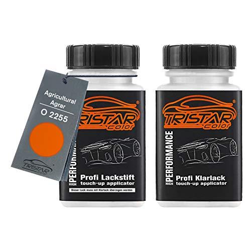 TRISTARcolor Autolack Lackstift Set für Agricultural/Agrar O 2255 Kubota Orange Basislack Klarlack je 50ml