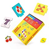 Jar Melo Number Matching and Counting Puzzle Kit,Self-Correcting Alphabet Number Puzzle,Educational Toys for Toddler