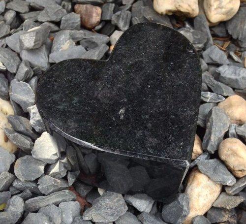ABC Granitherz Herz aus Granit Grabherz Grabdeko Grabschmuck Grabstein Herz