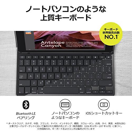 ロジクールiPad用キーボードiK1053BKブラックBluetoothキーボード一体型ケースiPad第5世代及び第6世代対応電池寿命最大4年間SLIMFOLIO国内正規品2年間メーカー保証