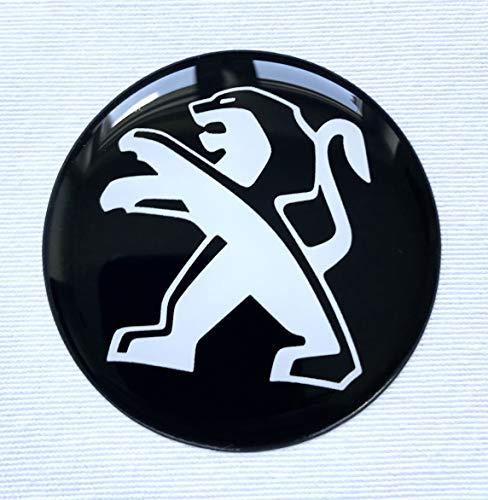 LogoEmbl Aufkleber 4 x 55 mm embleme kompatibel mit Peugeot radkappen nabenkappen nabendeckel Silikon