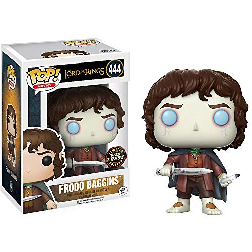 Funko Frodo Baggins (Chase Edition): Lord of The Rings x POP! Movies Vinyl Figure & 1 POP! Compatible PET Plastic Graphical Protector Bundle [#444 / 13551 - B]