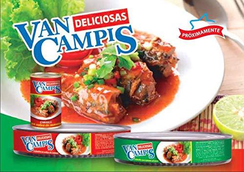 Van Campis – Makreel in Pikante Tomatensaus – Ideaal voor Sauzen – Tapas en Empanadas – Product van Ecuador 280 Gram