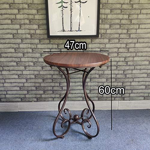 YWXCJ Tables Basses Table d'appoint d'angle Table en Fer forgé européen Salon canapé côté Loisirs Balcon Petite Table Basse Chambre Table d'appoint (Couleur : B, Taille : 47x60cm)