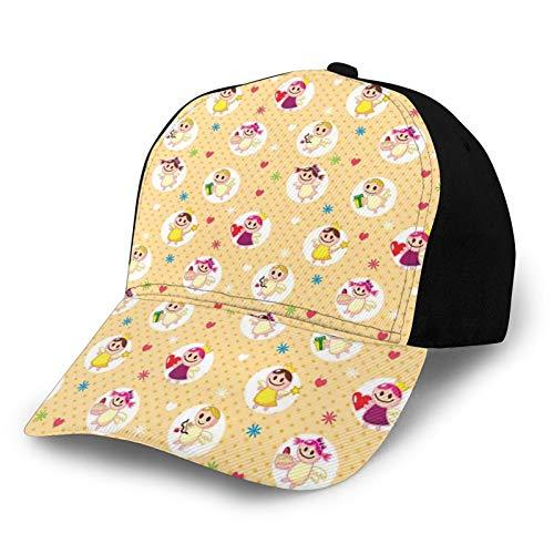 FULIYA Gorra de béisbol para papá de tamaño ajustable para correr, entrenamientos y actividades al aire libre, infancia, bebé, bebé, amor, sala de juegos, diseño de lunares