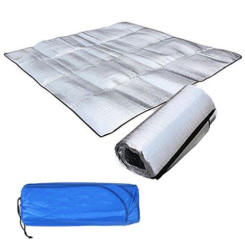 200*150CM tapis de sol multifonctionnel Tente De Camping sommeil Abris// matelas double face en aluminium avec mousse EVA pour deux personnes SODIAL R