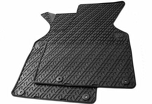 Volkswagen Qualité d'origine Tapis en caoutchouc original Tapis de sol en caoutchouc noir 4 pièces