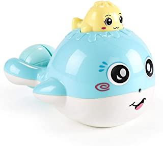 HENGSONG Cartoon Kids Floating Whale Spraying Baby Water Bath Shower Toys for Children