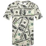 KYKU Dollar T Shirt Men USA Money T-Shirt 3D T-Shirt Funny Cool Mens Clothing (Large)