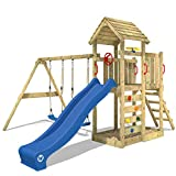 WICKEY Klettergerüst MultiFlyer - Spielturm mit massivem Holzdach